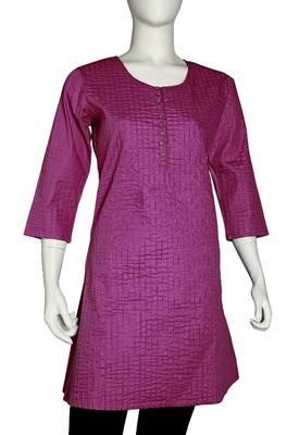 Just Women - Elegant Purple Kurti