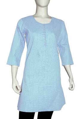 Just Women - Beautiful Steel Blue Kurti