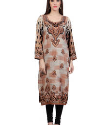 Multi Colour Staple Blended Printed Kurti