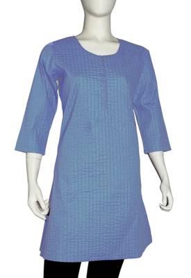 Just Women - Elegant  Cornflower Blue Kurti