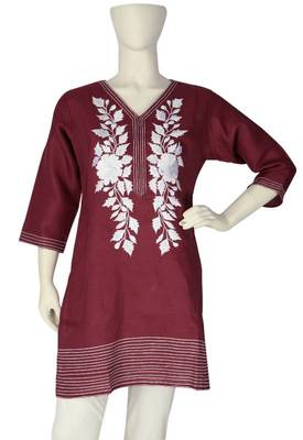 Just Women - Ravishing Milky White Kurti