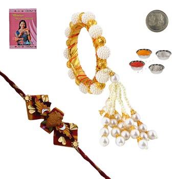 Rajasthani Ethnic Lumba Rakhi For Bhabhi n Rakhi Gift