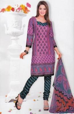 Crepe dress material elegant designer unstitched salwar suit d.no 7311