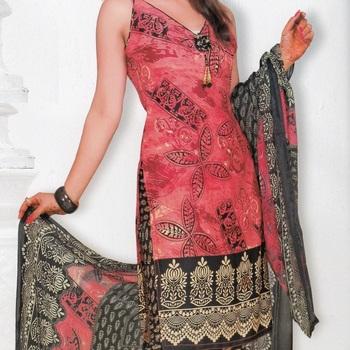 Crepe dress material elegant designer unstitched salwar suit d.no 7313