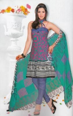 Crepe dress material elegant designer unstitched salwar suit d.no 7321