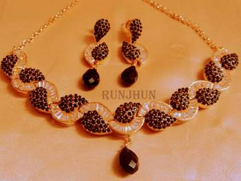 royal black cz necklace