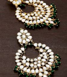 Buy Green Beads and Kundan Embellished Dangler Earrinngs 217ED25 black-friday-deal-sale online