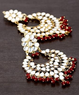 Kundan Embellished Dangler Earrings 217ED28