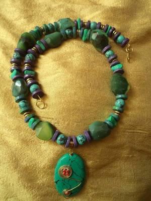 Gemstone Necklace-090154