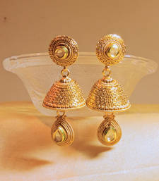 Buy traditional gold platted kundan jhumkaas jhumka online